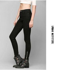 Urban Outfitters BDG Black Moto Biker Jeans 28
